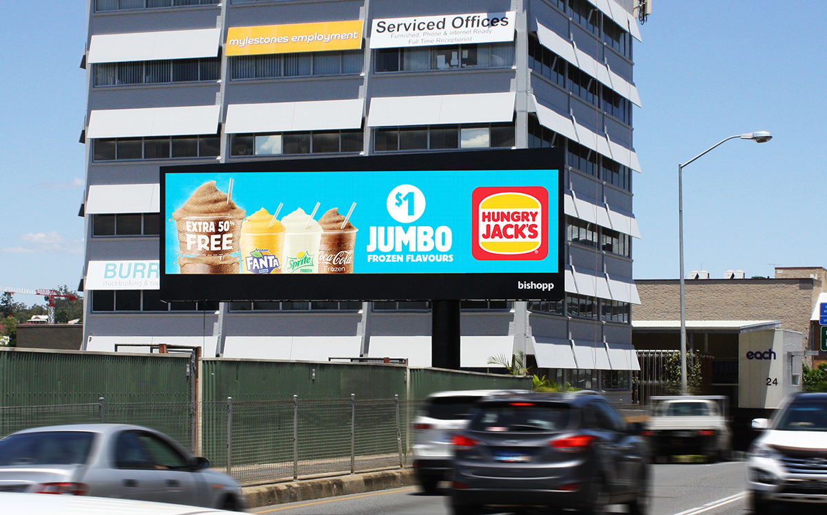 Ipswich Digital Billboard, Bishopp Group, Bishopp Outdoor Advertising