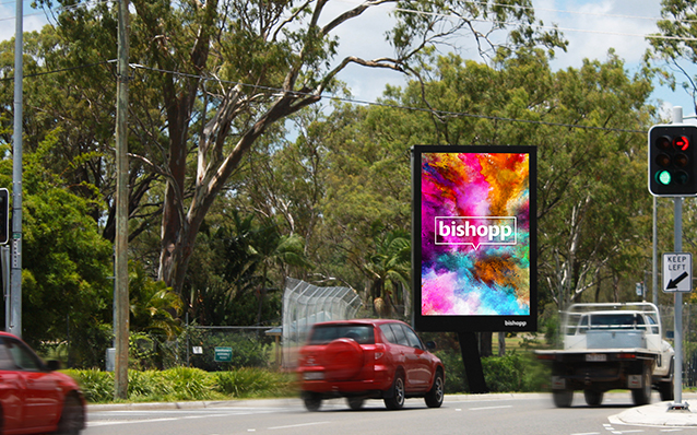 Gladstone Portrait Digital Billboard