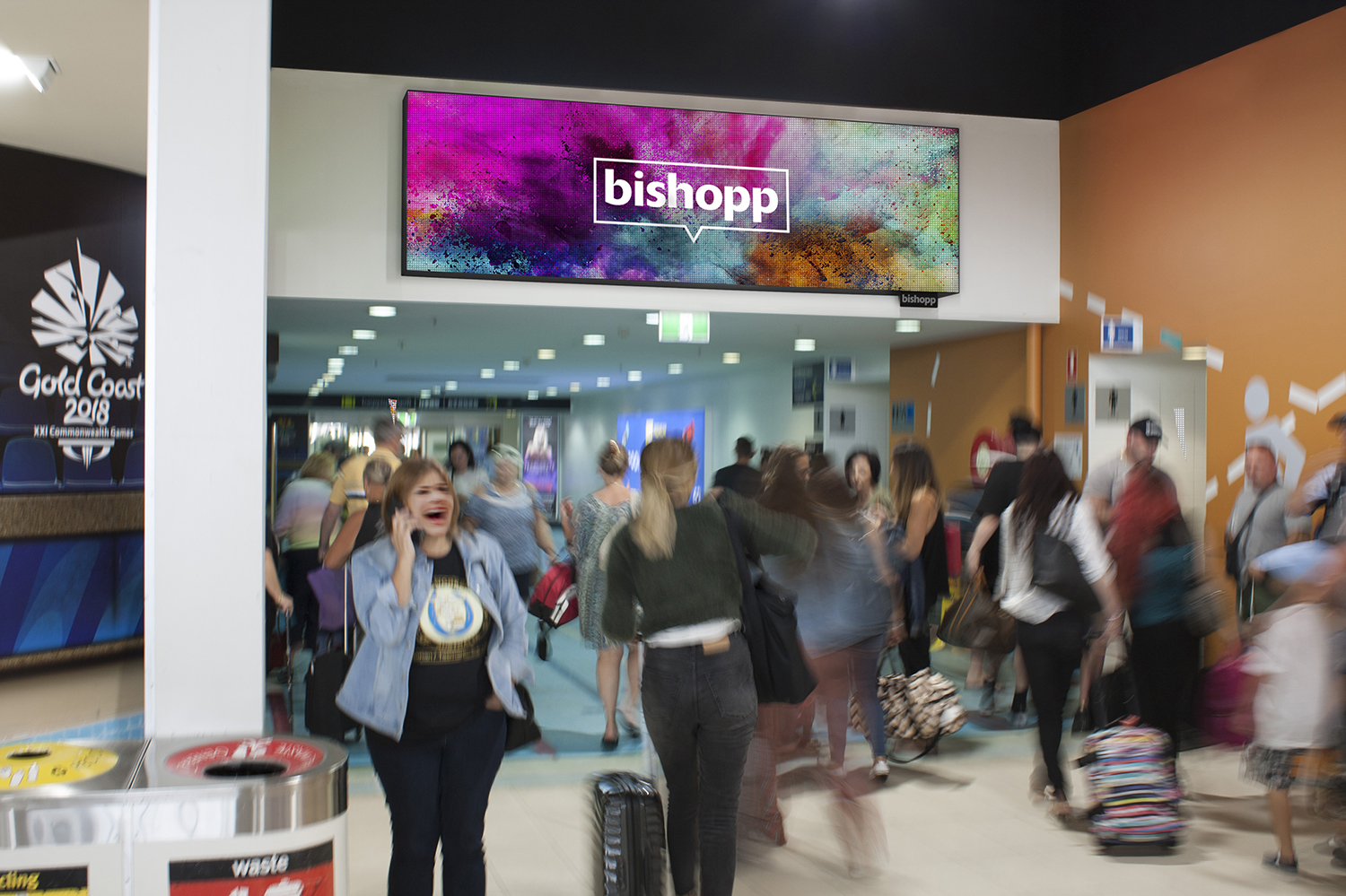 Gold Coast Airport, Gold Coast Airport Advertising, Bishopp Airport Advertising