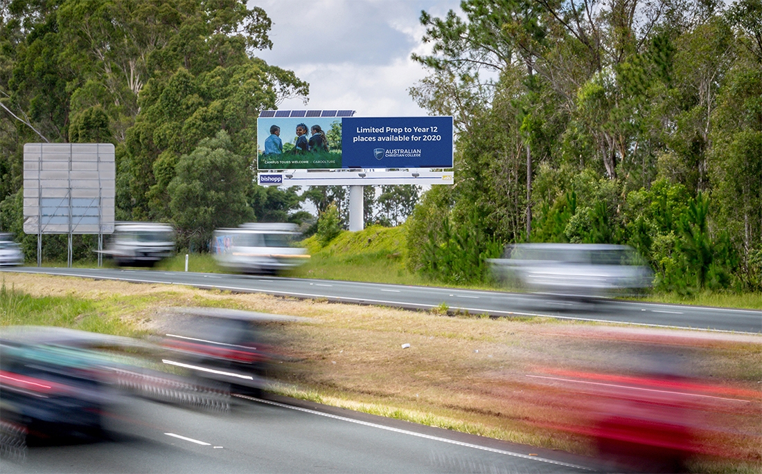 Australian Christian College, Bishopp Outdoor Advertising, Sunshine Coast Billboards, Bishopp, Moreton Bay Billboards, Caboolture Billboards, School Billboard Campaign