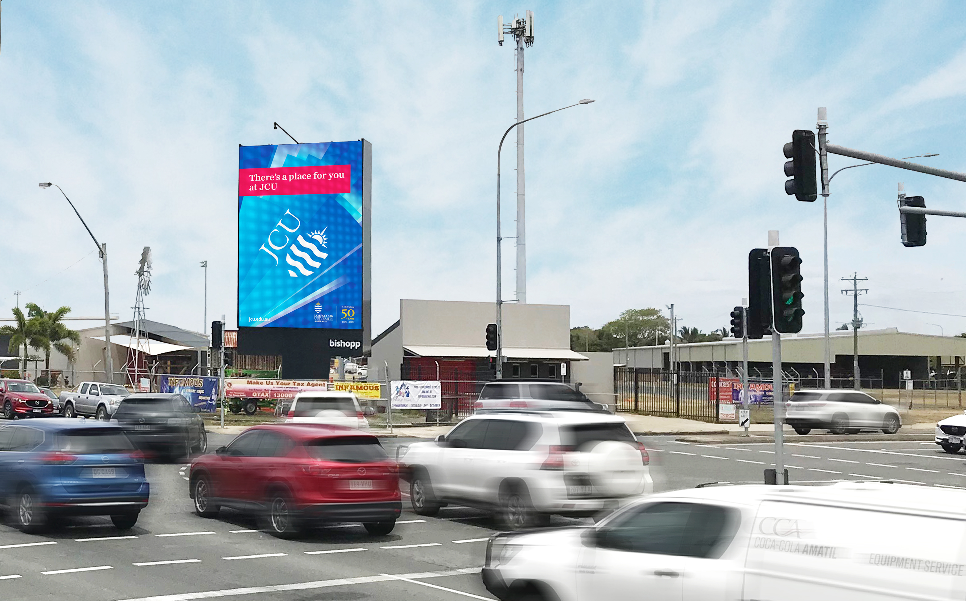 Mackay Digital Billboard, Mackay Billboard, Outdoor Advertising Mackay, Bishopp Outdoor Advertising